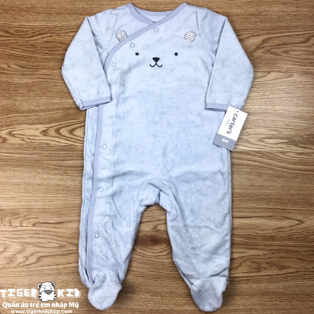 Sleepsuit cotton terry cài chéo