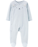 Sleepsuit cotton terry cài chéo thumbnail_1