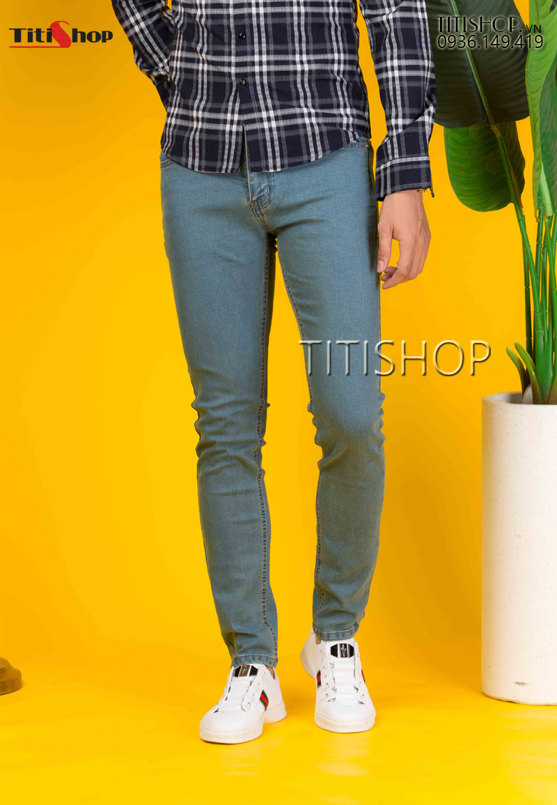 Quần jeans Nam Titishop QJ283 Wax Co giãn