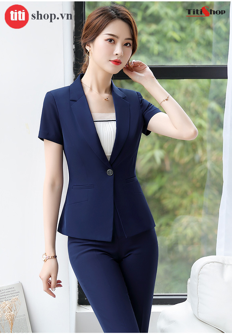 Aó vest nữ Titishop ACC264 xanh tay lững