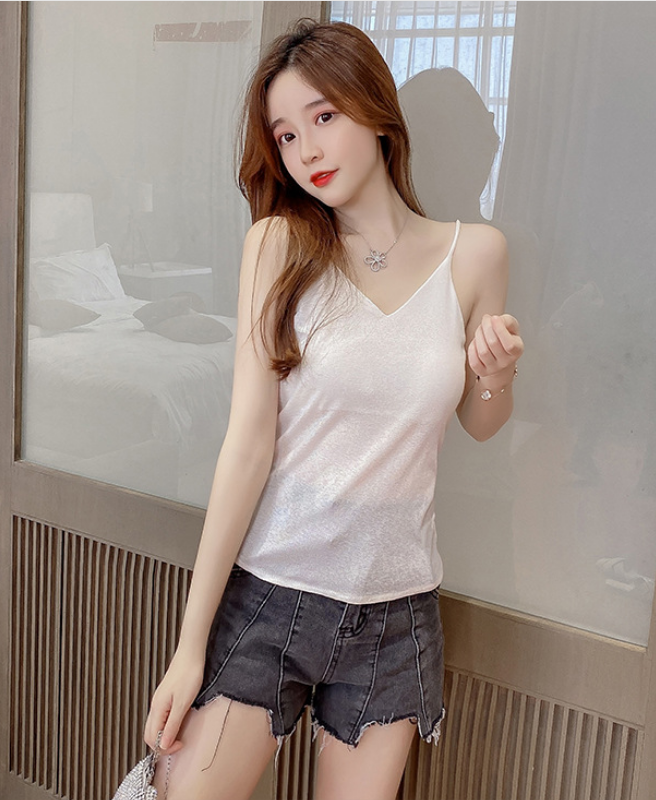 Camisole Mặc vest Titishop AOL193 Trắng Luxury