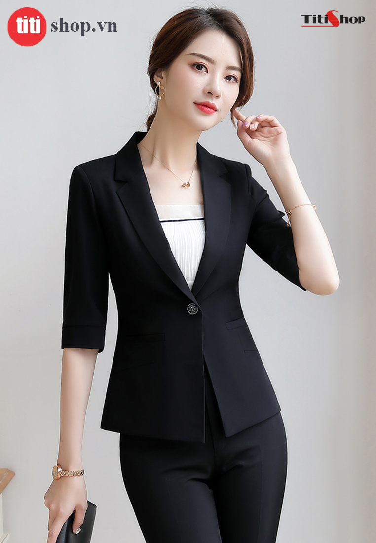 Aó vest nữ Titishop ACC263 Đen tay lững