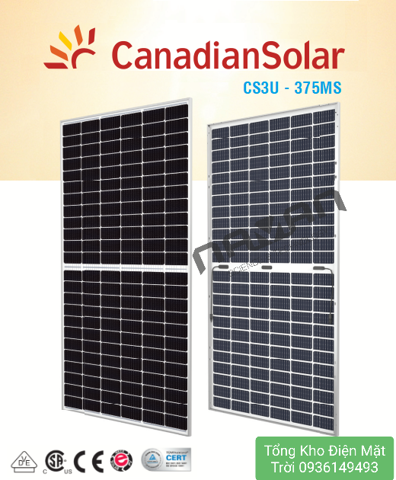 Tấm Pin Solar Canadian KUMAX – CS3U-375MS, Half Cell -Made in Taiwan
