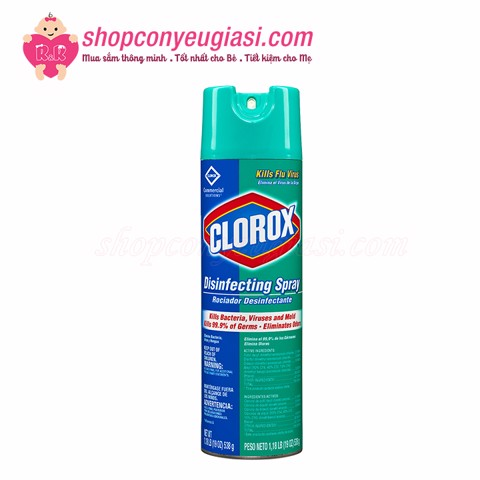 Chai Xịt Vệ Sinh Clorox Disinfect Spray 561ml - Made In USA