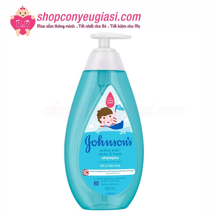Dầu Gội Johnson's Active Kids Clean & Fresh 500ml