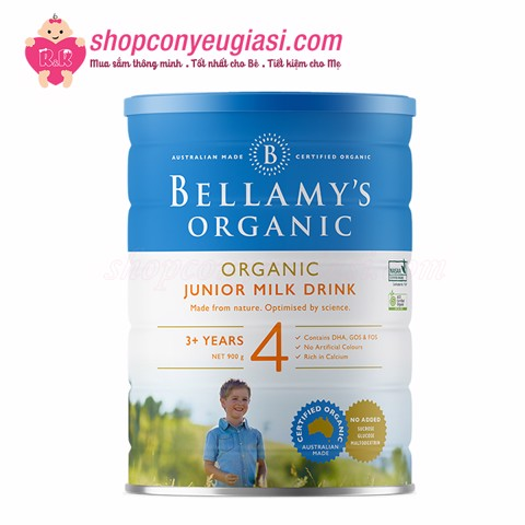 Sữa Bột Bellamy's Organic Junior Milk Drink Số 4 - 900g