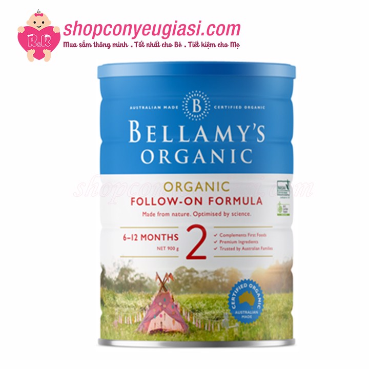 Sữa Bột Bellamy's Organic Follow-On Formula Số 2 - 900g