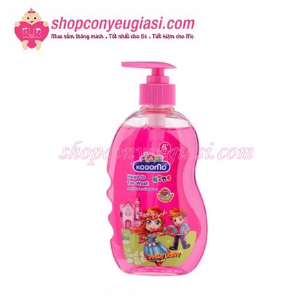 Dầu Tắm Gội Kodomo 2 in 1 Fruity Berry - 400ml