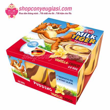 Pudding Milk Tiger Vani Choco 4 Hộp x50g