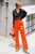Orange Pajamas Style Trousers