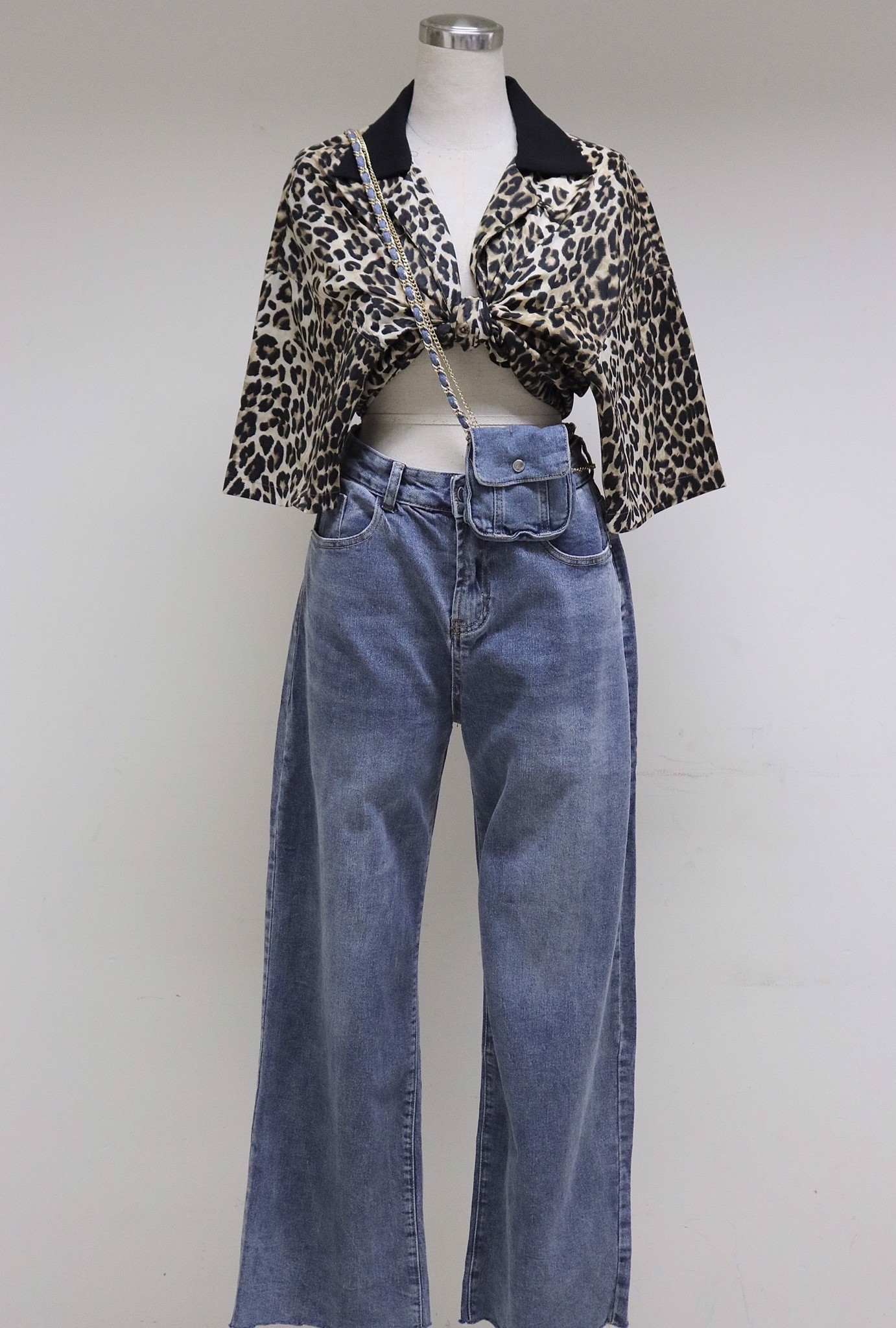 Chain Baggy Jeans