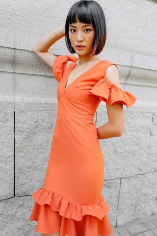 Brick Color Dress
