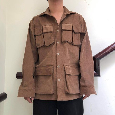 Brown Ticker Jacket