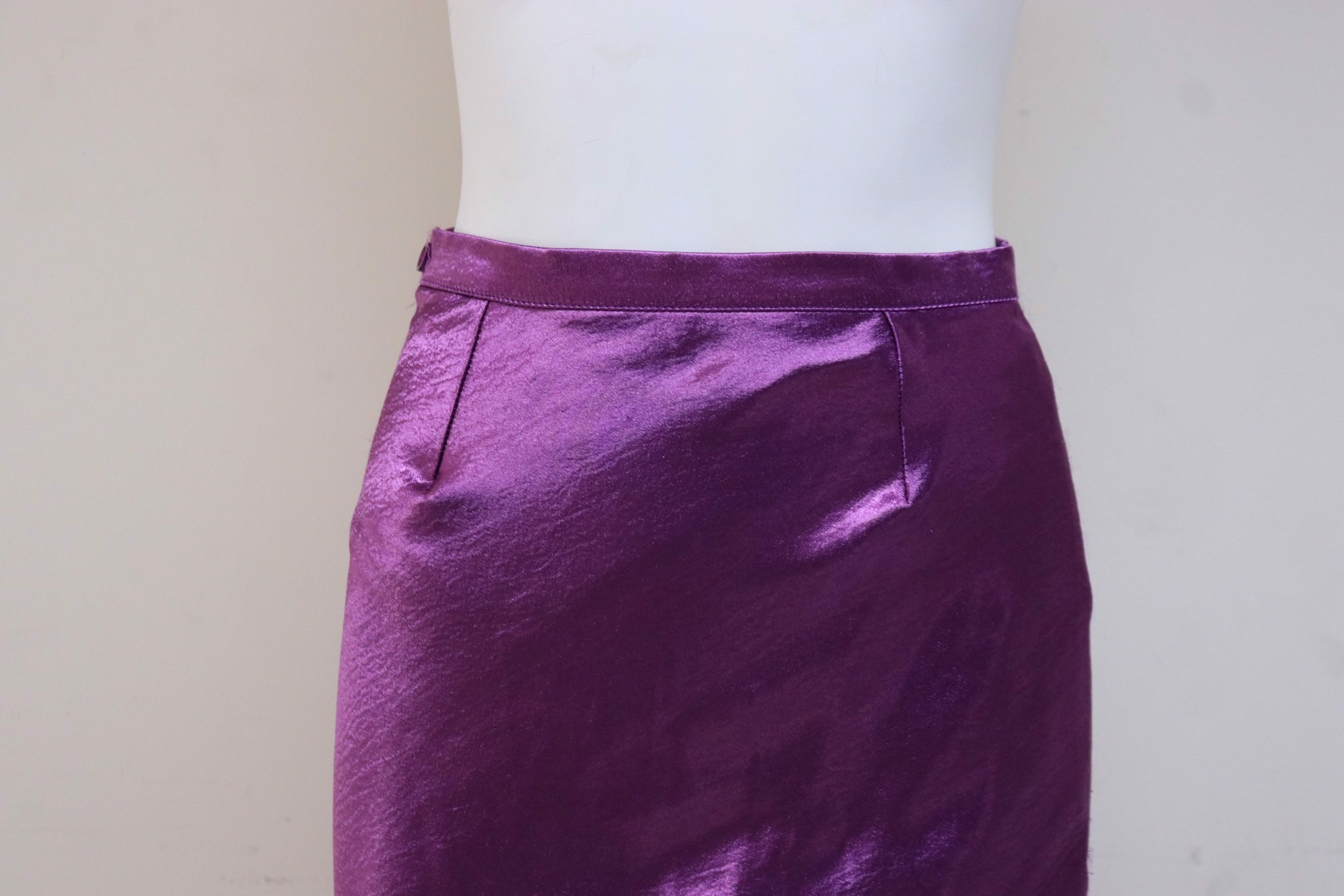Purple Silk Skirt