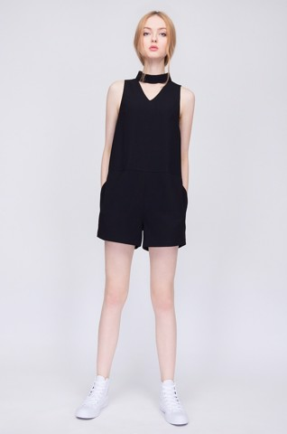 Jumpsuit Cutout Romper Can De Blanc