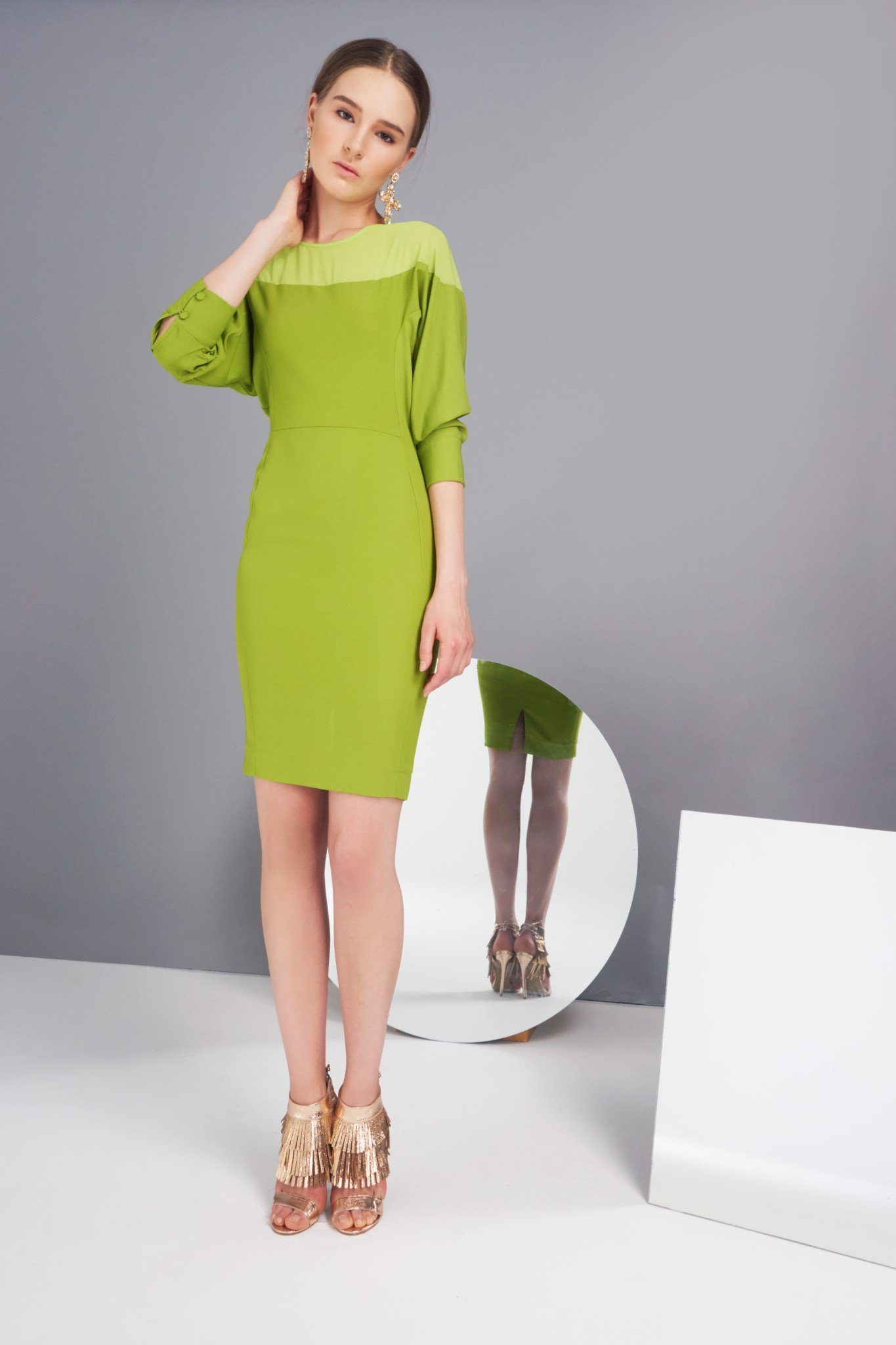 Light Green Chiffon Dress
