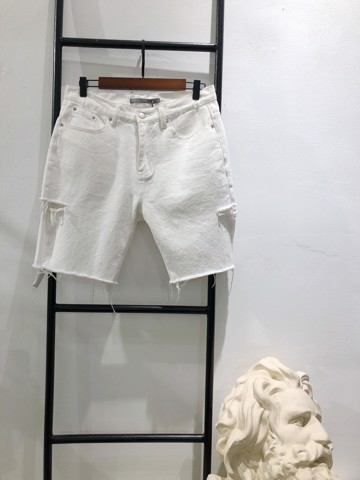 White Jeans Shorts