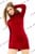 Velvet Tutleneck Long Sleeve Body Mini Dress