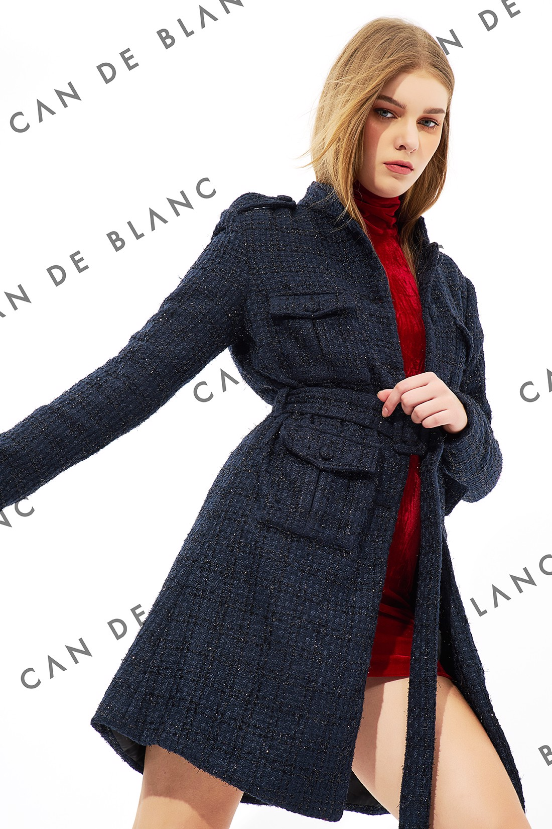 Tamarin Collar Tweed Coat
