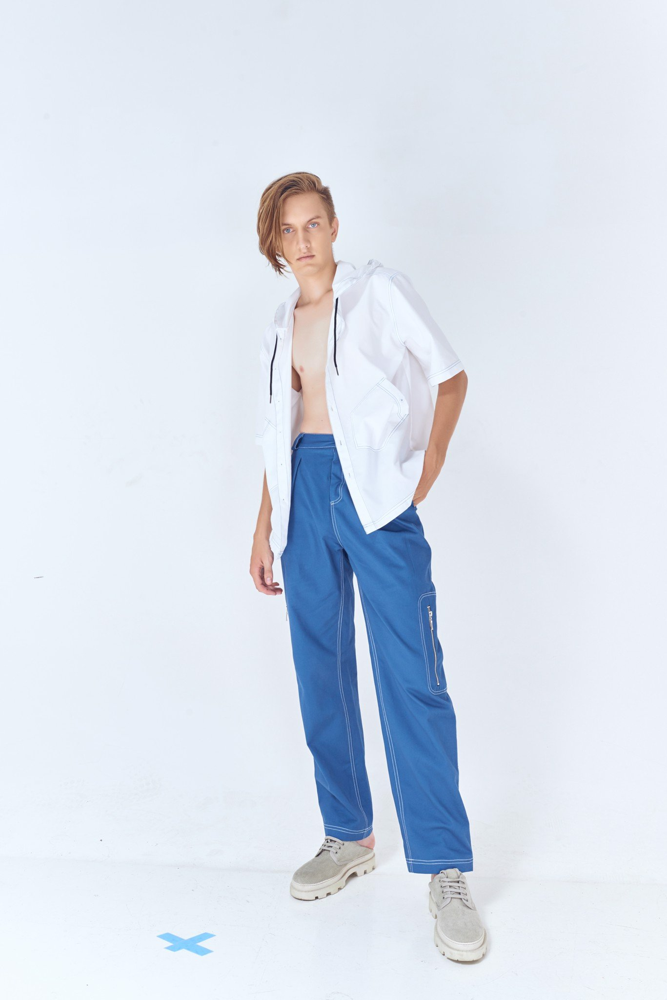 Pleated Large Fit Pants