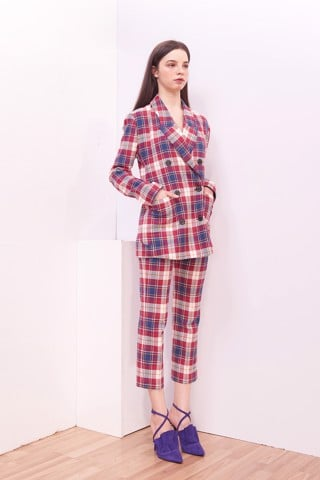 Plaid Female Trousers