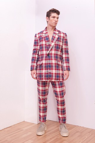 Plaid Male Trousers