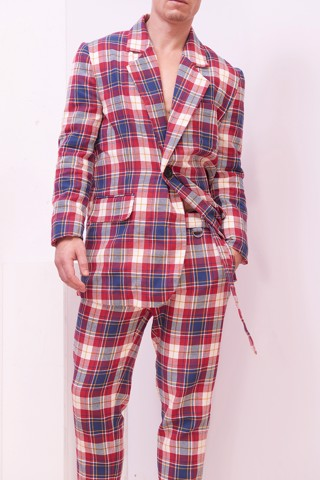 Plaid Male Blazer
