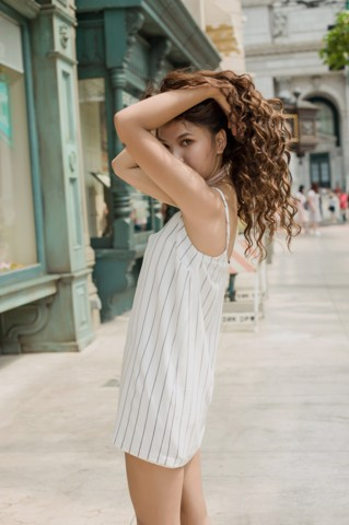 Stripe Mini Slip Dress