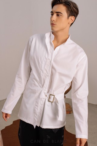 Collar White Shirt mix Belt