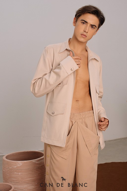 Pocket Beige Jacket