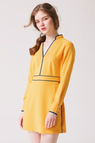 Minimalist Yellow Dress