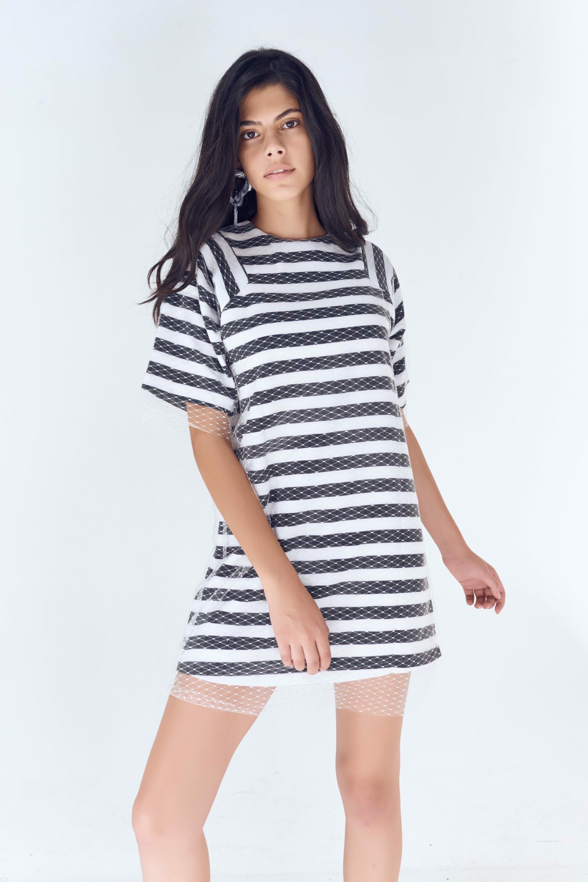 Raglan M.O Striped Dress