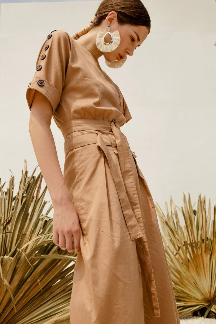 Ruffle Brown Jumpsuit