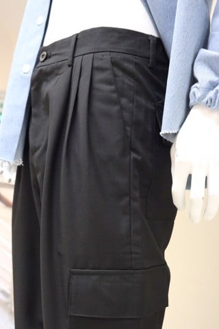 Black Pocket Pants