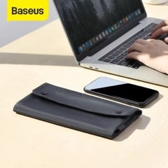 Túi xếp vải dù, chống thấm Baseus Folding Series Laptop Sleeve dùng đựng Macbook/ Tablet/ Samrtphone và Phụ kiện(Waterproof/ Dirt-resistant, Foldable, Digital Device Storage Bag)
