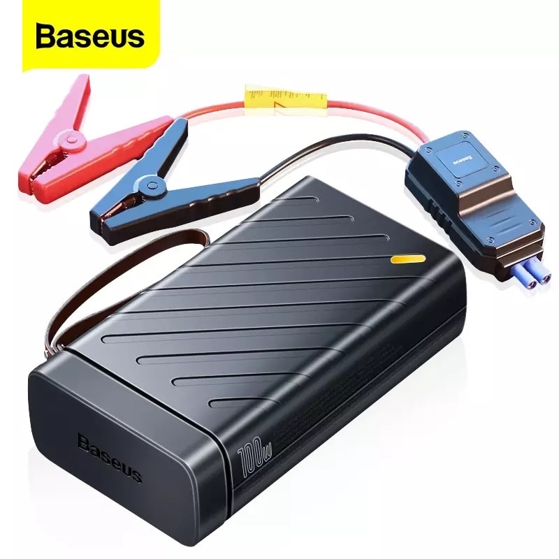 Kích bình ô tô thế hệ mới Baseus Reboost Jump Starter  tích hợp bộ chuyển đổi DC to AC 220V/50Hz (with Portable Energy Storage Power Supply AC 220V/50Hz - 100W)