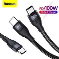 Cáp sạc nhanh 2 đầu Type C to Dual Type C Baseus Flash Series 100W (Type C to Type C x2 , One-for-two, Power delivery Fast Charging Data Cable)