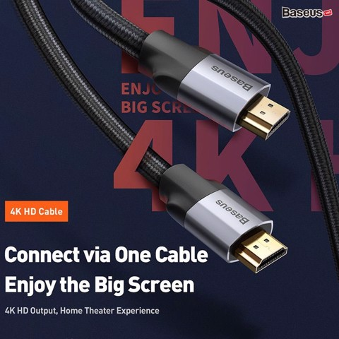 Cáp HDMI siêu nét Baseus Enjoyment Series 4K (HDMI Male To HDMI Male Adapter Cable)