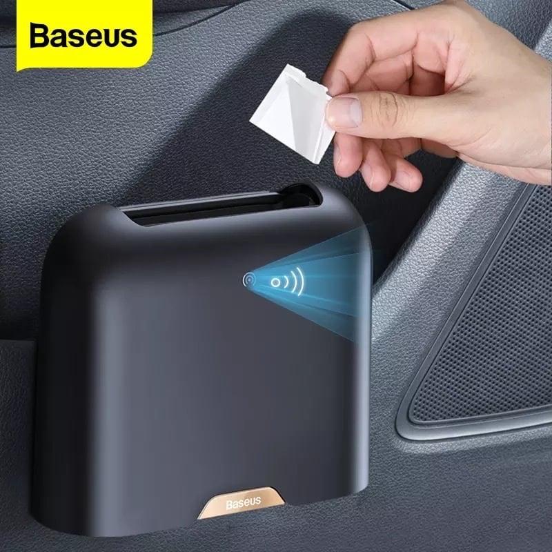 Thùng rác thông minh gắn lưng ghế Baseus Smart Cleaner Auto Car Trash Can dùng cho xe hơi (Kèm 2 cuộn / 60 túi rác, Cảm biến đóng mở nắp tự động)