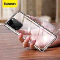 Ốp lưng Silicone trong suốt Baseus Simple Clear Case dùng cho Samsung Galaxy S20/ S20 Plus/ S20 Ultra  ( 0.8mm, Anti-Yellowing, Transparent Soft TPU Case)
