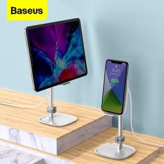 Bộ đế giữ điện thoại/ Tablet để bàn tích hợp sạc nhanh không dây Baseus Literary Youth Desktop Bracket (Telescopic + 15W Wireless Charging)