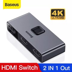Thiết bị chia cổng HDMI 2 chiều Baseus Matrix HDMI Splitter (2 Devices to 1 Screen or 1 Device to 2 Screen, Support 4K30Hz/ 4k60Hz)