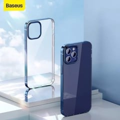 Ốp lưng Silicone dẻo trong suốt viền si màu Baseus Shining Case cho iPhone 12 Series (Soft TPU Silicone, Super Clear Case)