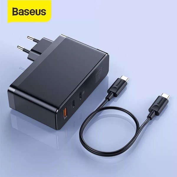 Bộ sạc nhanh đa năng Baseus GaN2 Pro Quick Charger 120W dùng cho Smartphone/ Tablet/ Macbook / Laptop (C+C+A, With C to C Cable, E-mark Chip 100W