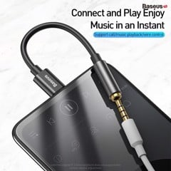 Đầu chuyển Type C sang Audio AUX 3.5mm Baseus L54 (Type-C Male to 3.5mm Female Adapter, built-in DAC, 24-bit/48kHz)