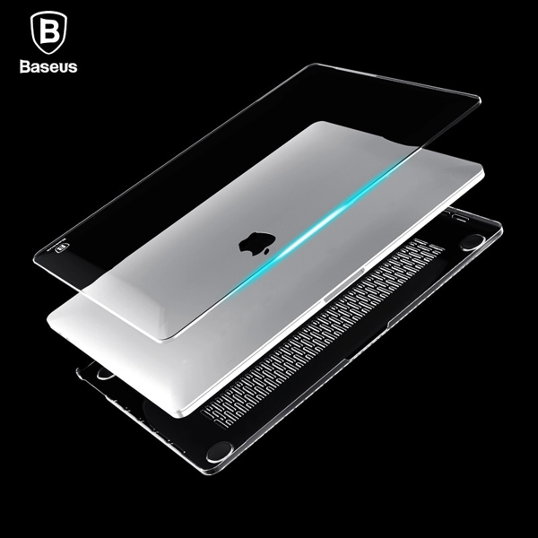 Case trong suốt, siêu mỏng, chống trầy Baseus Air Case cho Macbook Pro 2016/2017 13/15 inch (Ultrathin Crystal Full Body Cover Case)