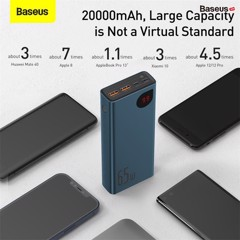Pin dự phòng 65W Baseus Adaman Metal Digital Display Quick Charge Power Bank (20000mAh, 65W)