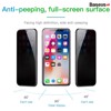 Kính cường lực 5 lớp siêu bền - chống nhìn trộm Baseus Anti Spy 3D Curved-screen cho iPhone X/XS Max/iP 11 Pro Max (0.23mm, 3D Anti Peeping Tempered Glass Film)