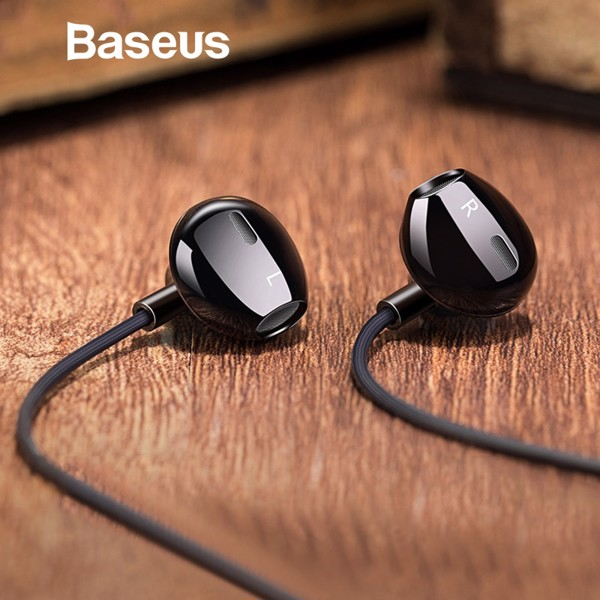 Tai nghe in Ear Baseus Encok H06 Lateral (Wired Earphone with Mic Stereo Headset Earbuds Earpiece)