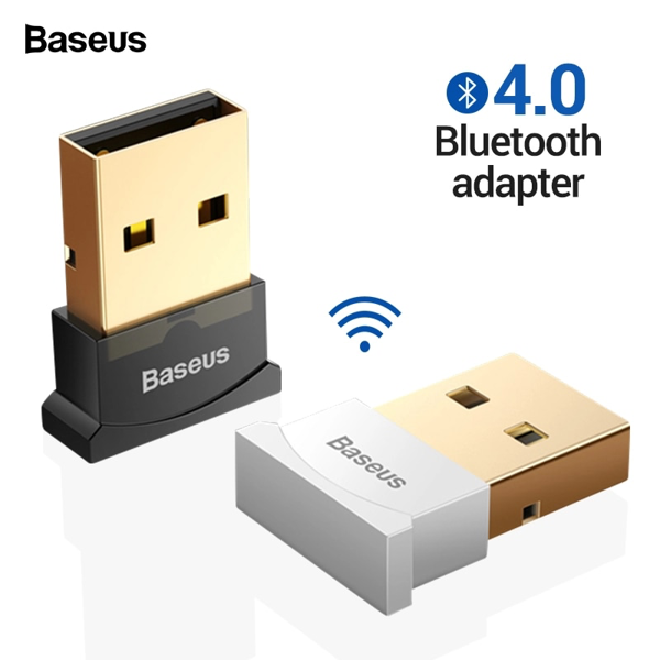 Baseus Mini USB Bluetooth CSR 4.0 Adapter cho máy tính / Laptop Windows (USB Bluetooth Receiver Adapter)